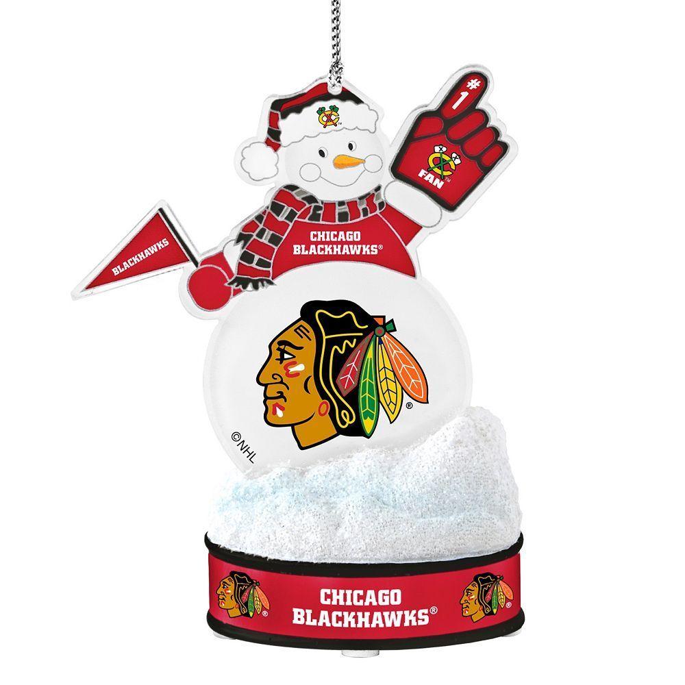 Chicago Blackhawks LED Snowman Ornament, Multicolor