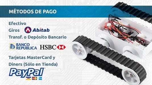 En Mecatrónica Uruguay, aceptamos muchas formas de Pago!