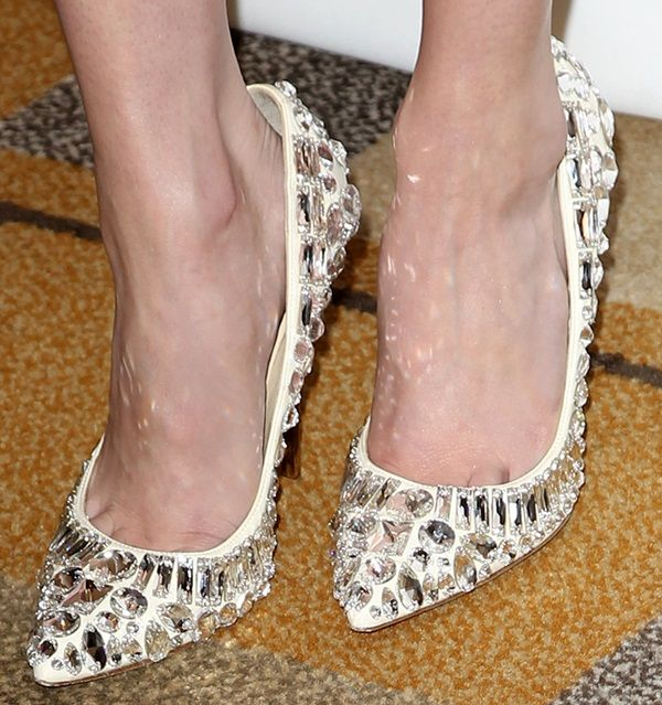 be57c68fddad ... reduced emma roberts wearing rhinestone embellished jimmy choo tia pumps  49c7c cb845