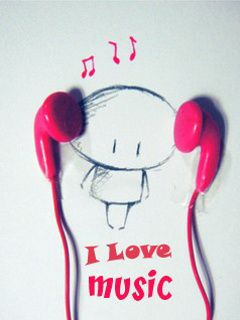 Download I Love Music Mobile Wallpaper Is Compatible For Nokia Samsung Htc Imate LG Sony Ericsson Phones