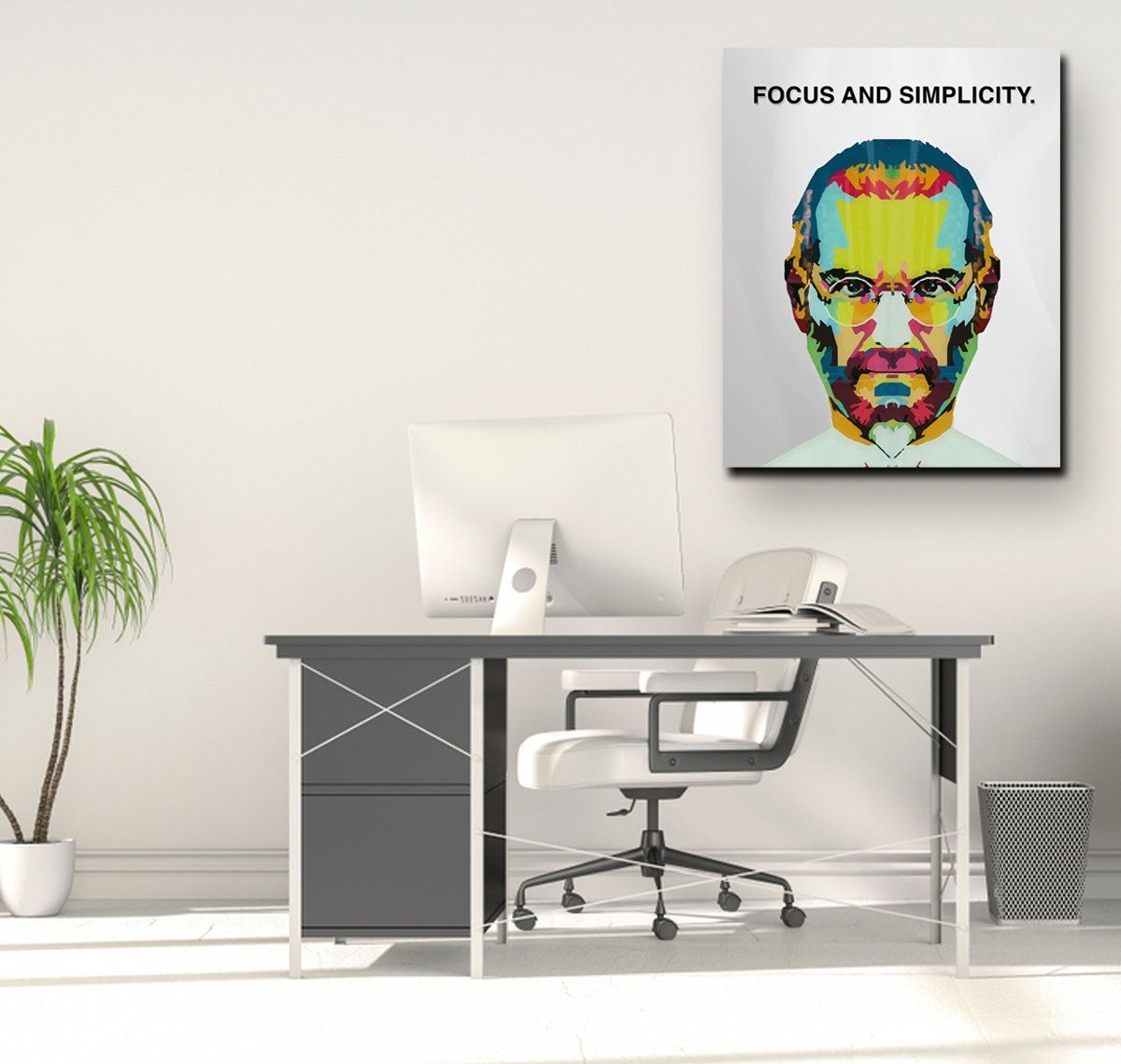 STEVE JOBS WALL ART Arts and crafts for adults, Jobs in