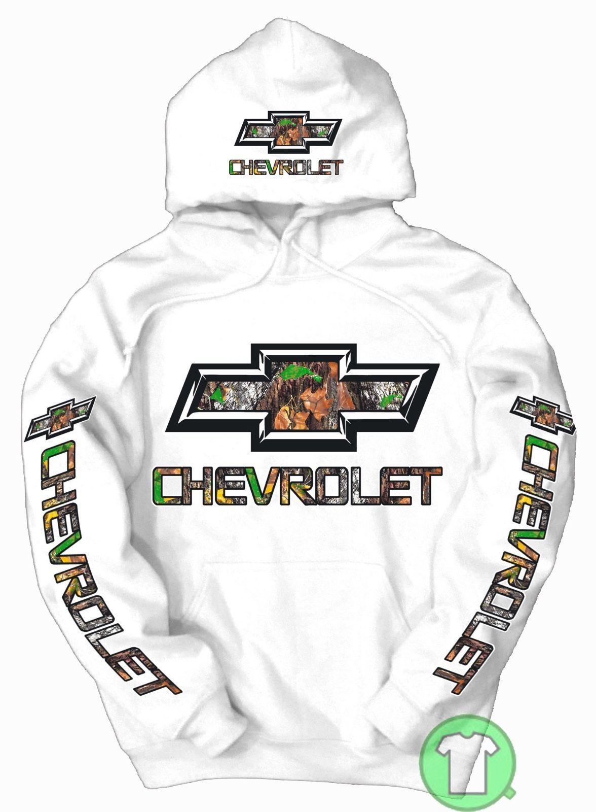Chevrolet Camo Logo Pullover Black Hoodie Chevy BUY ANY 2 HOODIES GET FREE TEE!