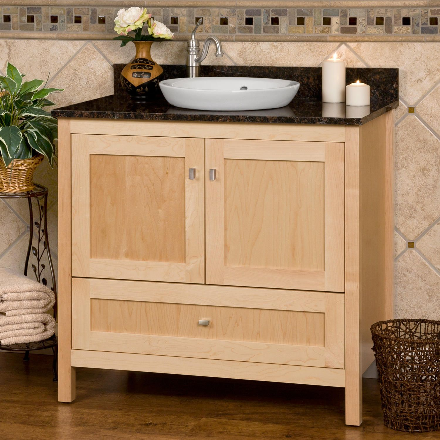 36 Alcott Vanity Natural Maple Cabinet Only Master Bath