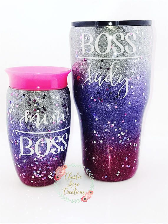 Mommy And Me Mommy And Me Tumbler Sets Kids Cup Glitter Tumblers