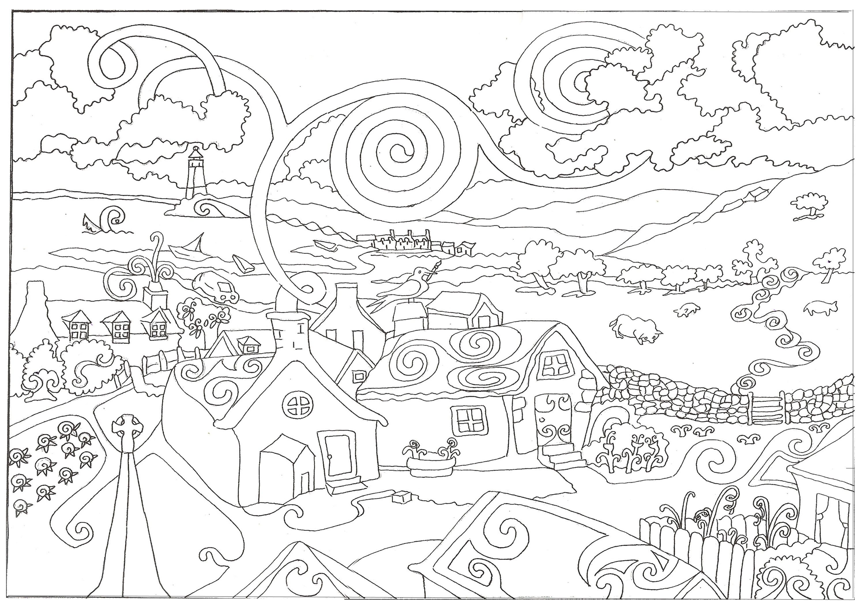 Printable Coloring Pages Adults | For the Grandchildren | Pinterest ...