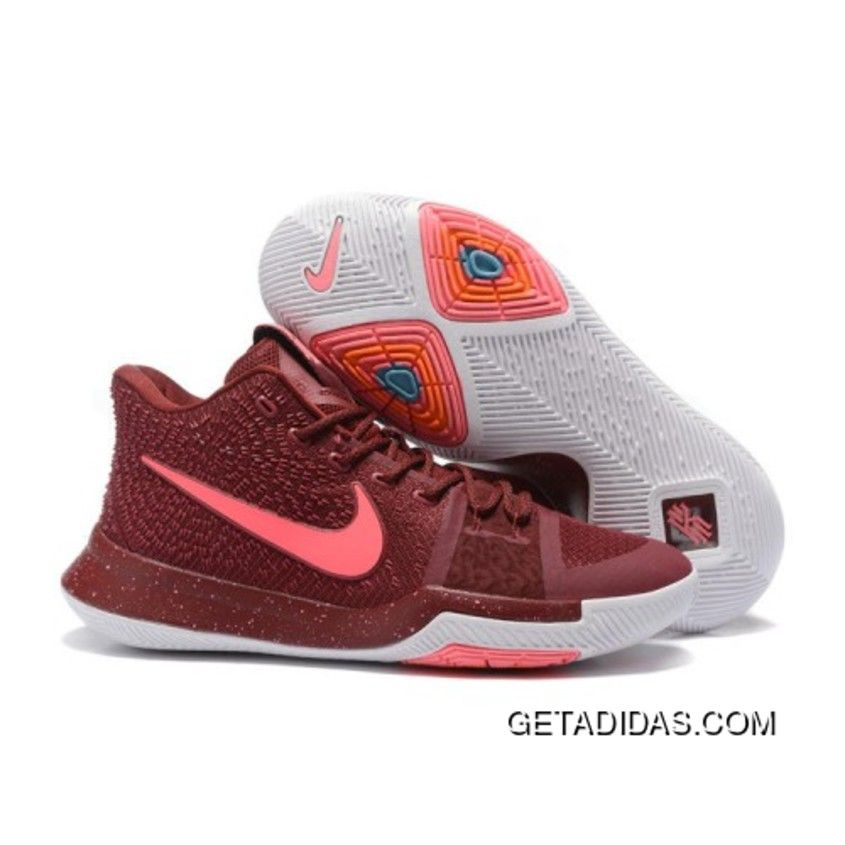 4695db66f9d5 New Nike Kyrie 3 Team Red Basketball Shoes Copuon Code