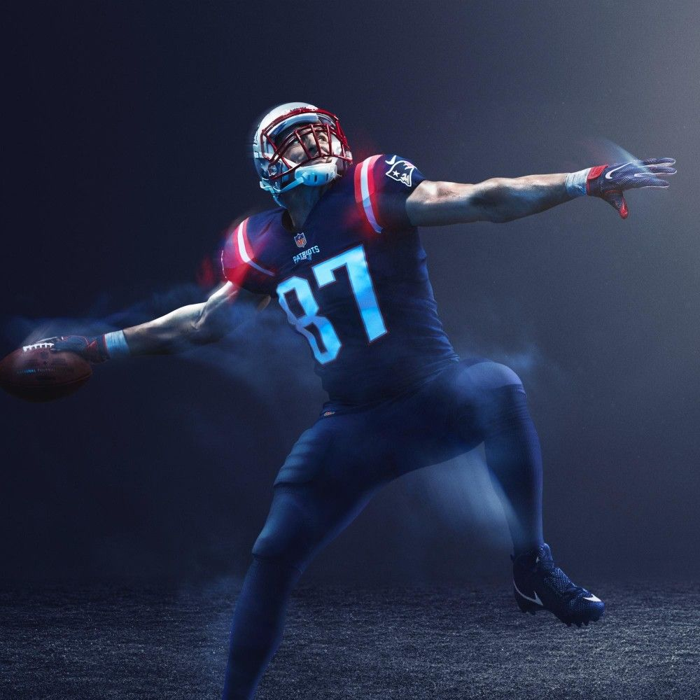Gronk Color Rush New England Patriots Colors Patriots Color Rush New England Patriots