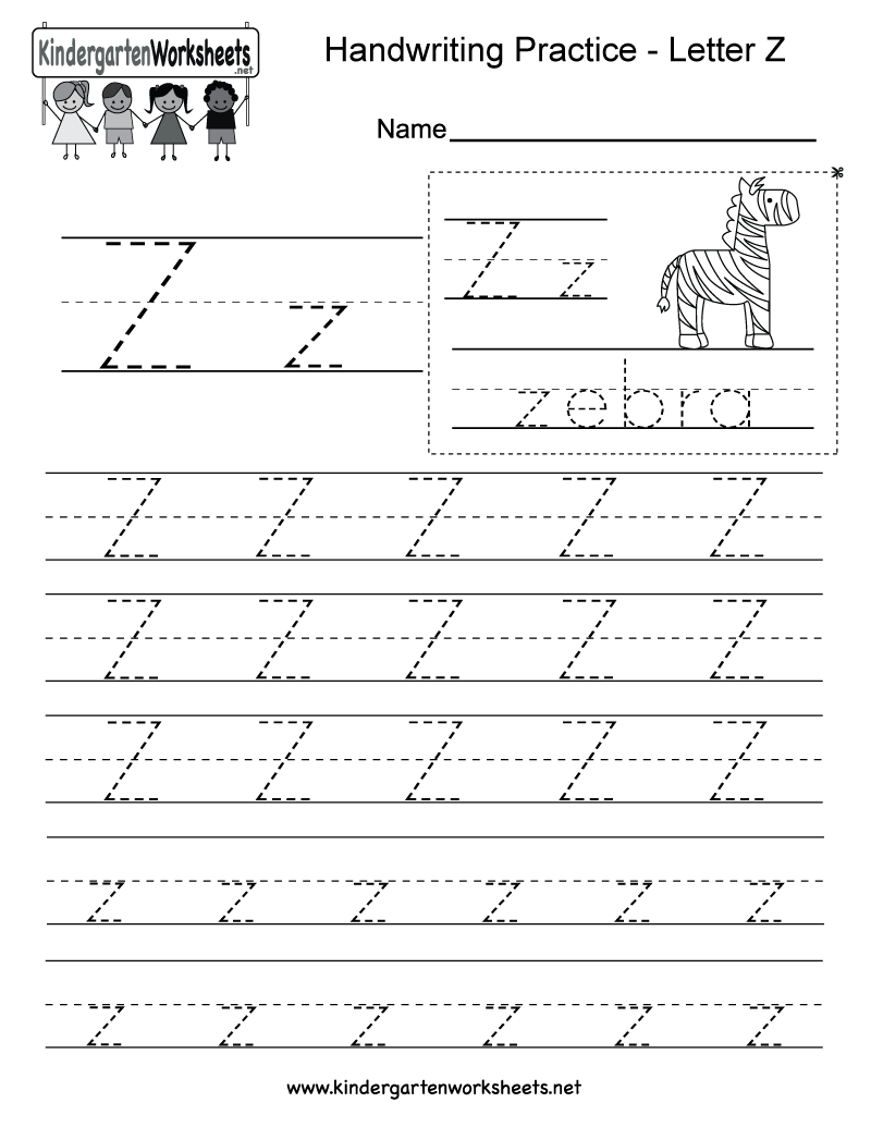 Letter Z Writing Practice Worksheet This Series Of Handwriting Alphabet Worksheets Can Also Be Cut Out To Make An Original Card Or Booklet