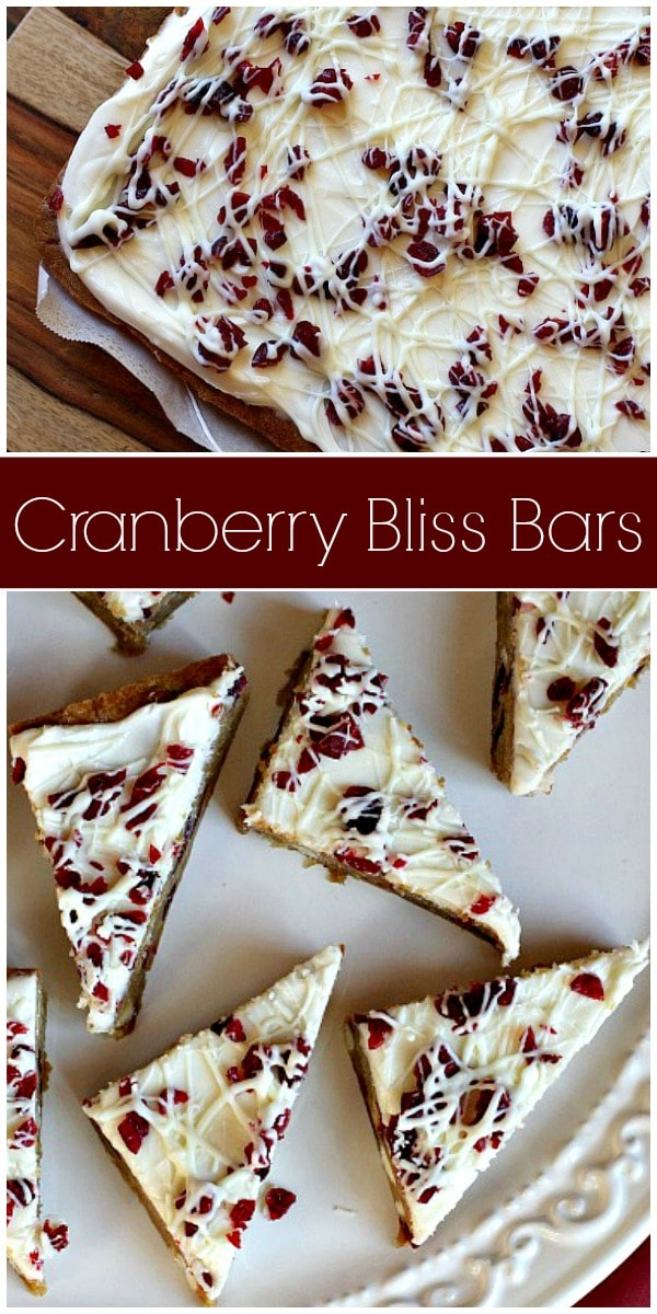 Cranberry Bliss Bars - Recipe Girl