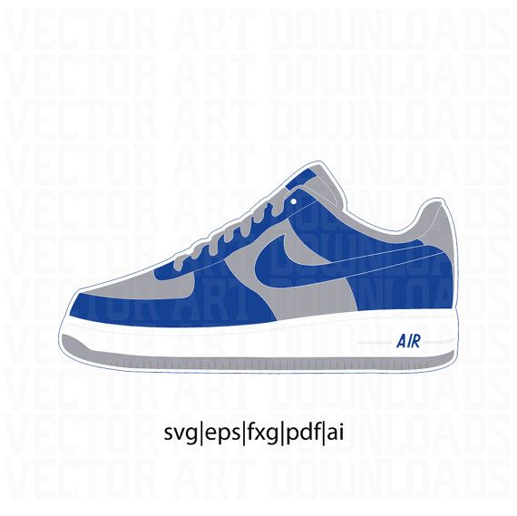 Download Nike Air Force 1 ATMOS cojp Vector in SVG from Vector Art ...