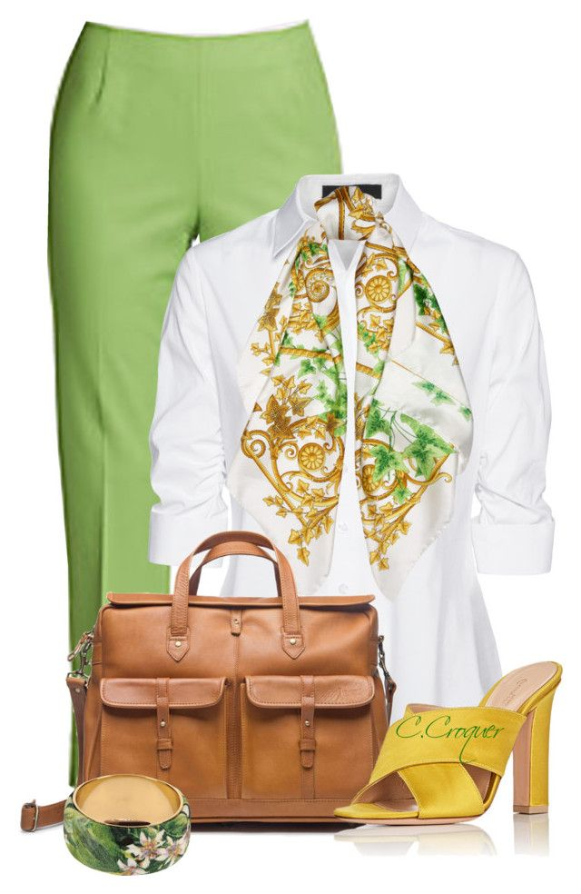 """""""Spring Time"""" by ccroquer ❤ liked on Polyvore featuring Lafayette 148 New York, Steffen Schraut, Versace, Gianvito Rossi and Dolce&Gabbana"""