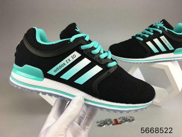 Adidas zx 3D 2017 nuevo deporte zapatos unisex de pavo real verde nueva llegada