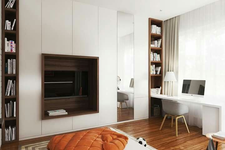 Beau Pin By Andrea Lajti On Dolgozó Sarok | Pinterest | Tv Units, Bedrooms And  Bedroom Cupboards