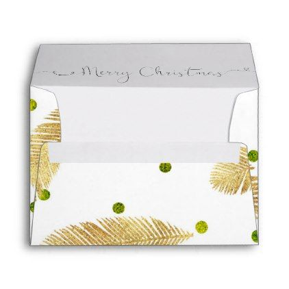 Merry Christmas Gold Glitter Script  Envelope A  Gold Glitter
