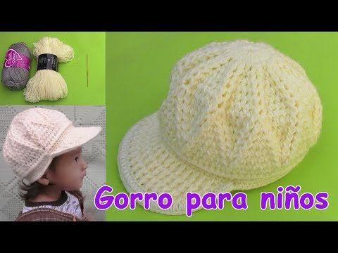 Gorra para niños de 1 a 3 años tejido a crochet paso a paso - YouTube a447a3e7d48