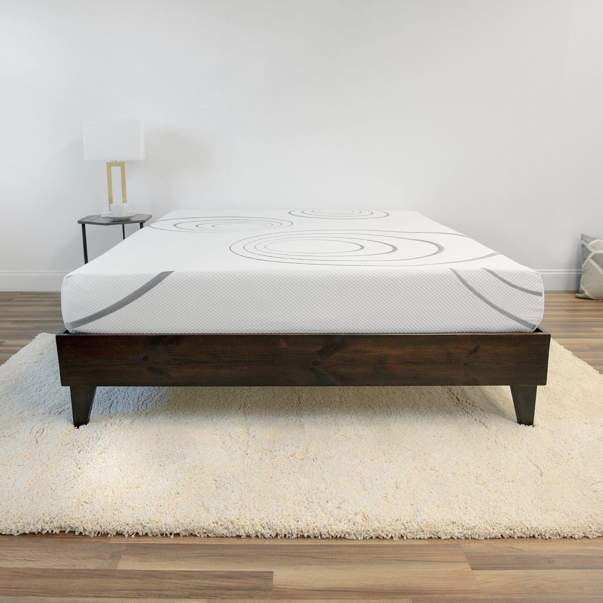Sensorpedic 8 Inch Firm Dual Layer Memory Foam Mattress In A Box Foam Mattress Mattress Bedroom Furniture Stores