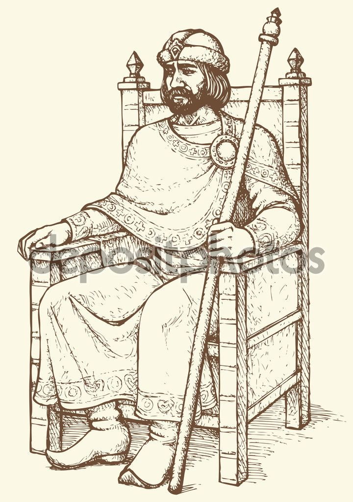 King on throne Vector drawing  Stock Vector  Marinka 77933146