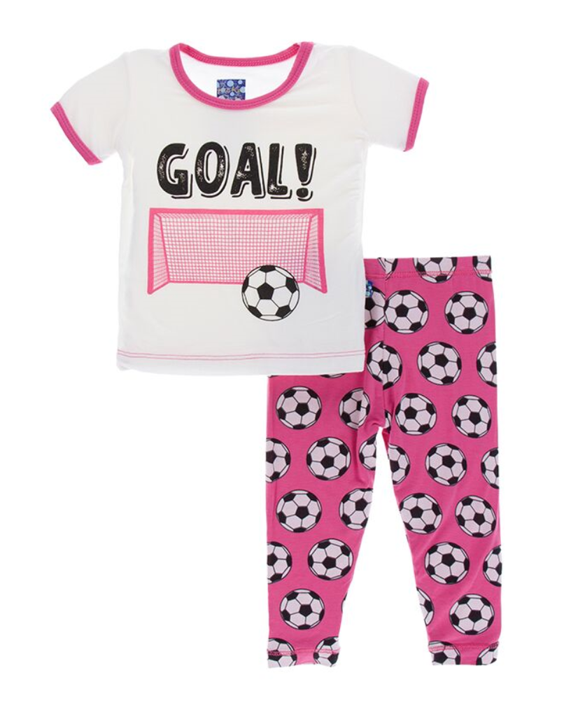 a03da4a4cb Kickee Pants flamingo soccer 2 piece set