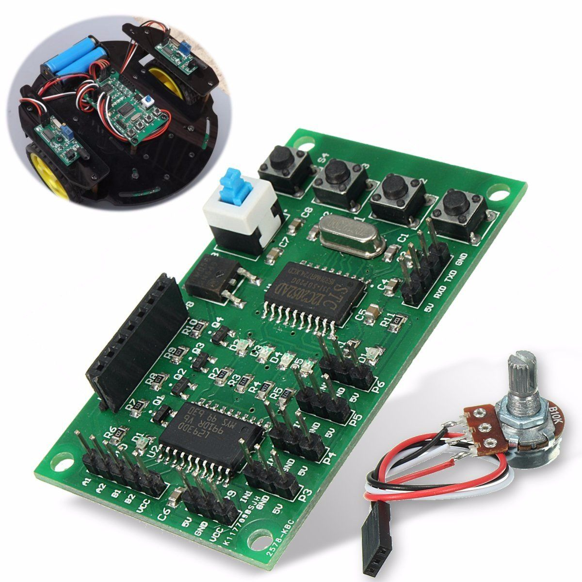 [US$6.09] Programmable 2/4 Phase 4/5 Wire Stepper Motor Driver Control Board For Robot Car DIY #programmable #phase #wire #stepper #motor #driver #control ...