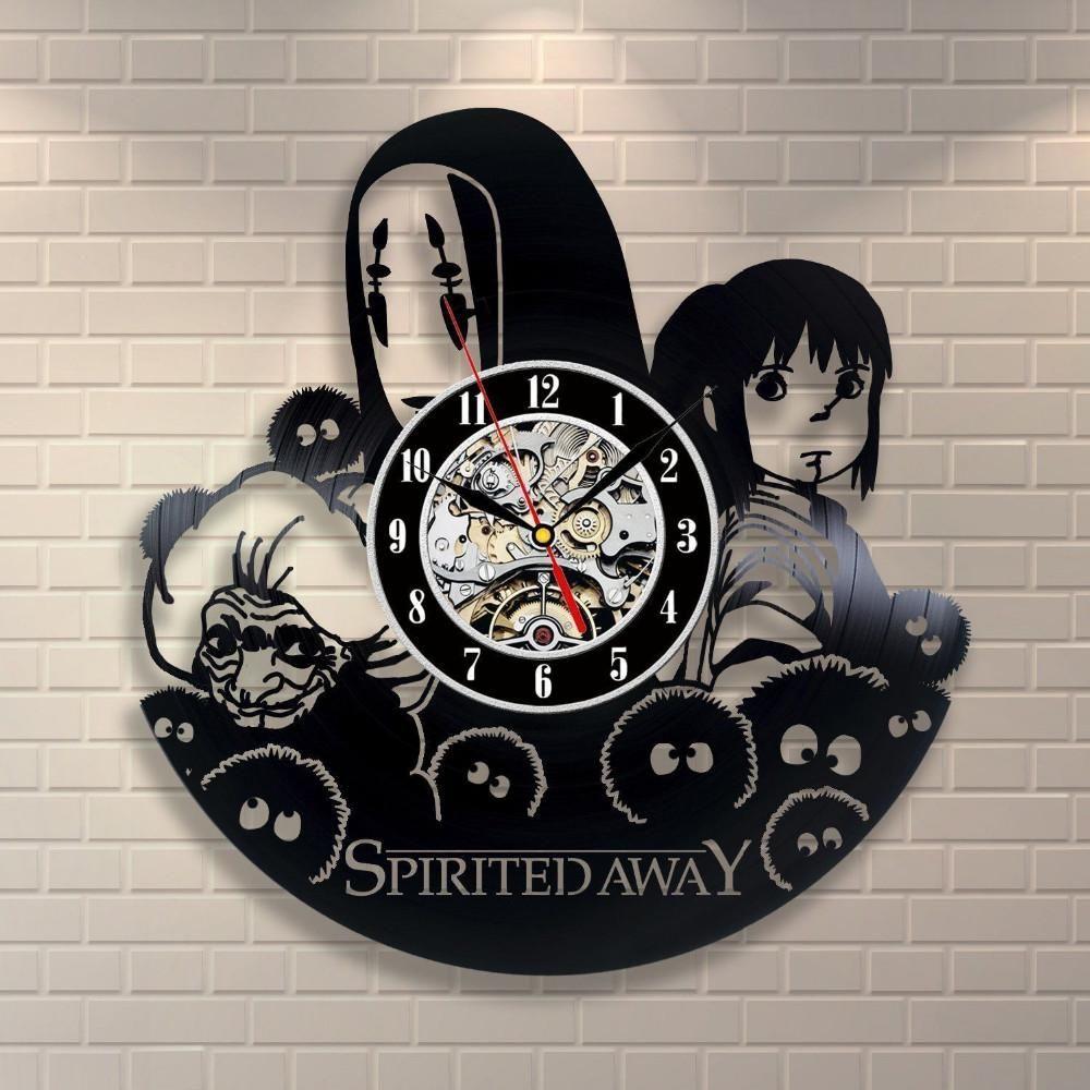 Clock Modern Cartoon Wall Creative Design Clocks Record Vinyl kXuiOZP