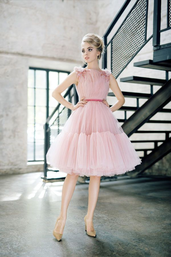 2e7cbe0154f Вечернее пышное платье миди
