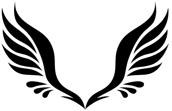 simple tribal angel wings clipart best graphic inspiration rh pinterest com angel wings clip art you can add a picture to angel wings clip art for memorial