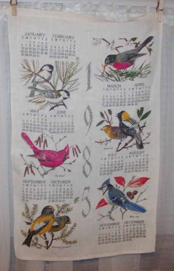 1985 Calendar Towel