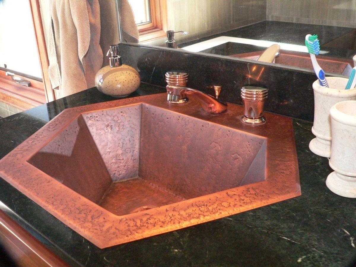 Ceramic Sink Protector Google Search Copper Sink Bathroom Retro Bathrooms Rustic Sink