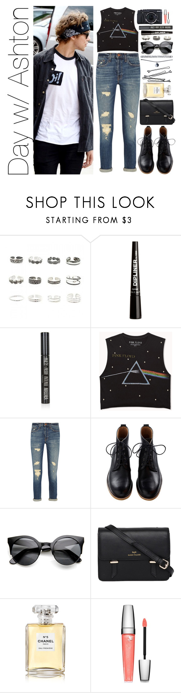 """""""Day w/ Ashton"""" by crazymofo4ever ❤ liked on Polyvore featuring Retrò, H&M, Topshop, Forever 21, J Brand, Sloane, Chanel, Lancôme, BOBBY and Wet Seal"""