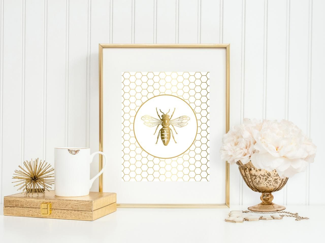 Glam Bee Print Insect Decor Bee Print Scripture Art