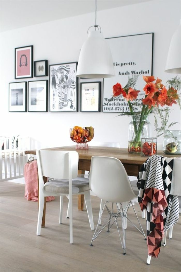 Quelle déco salle à manger choisir? Idées en 64 photos! Living - Salle A Manger Parquet