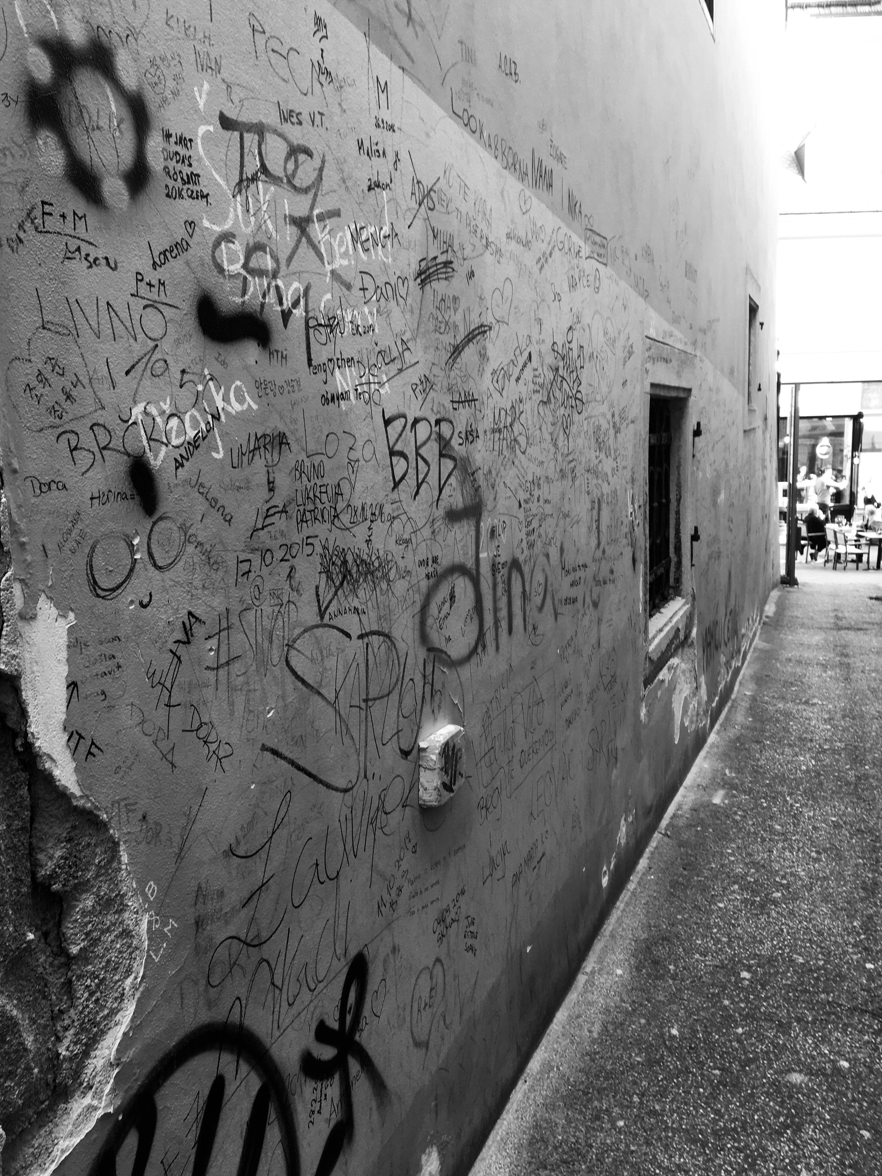 Wall walls cute sad city zagreb tumblr