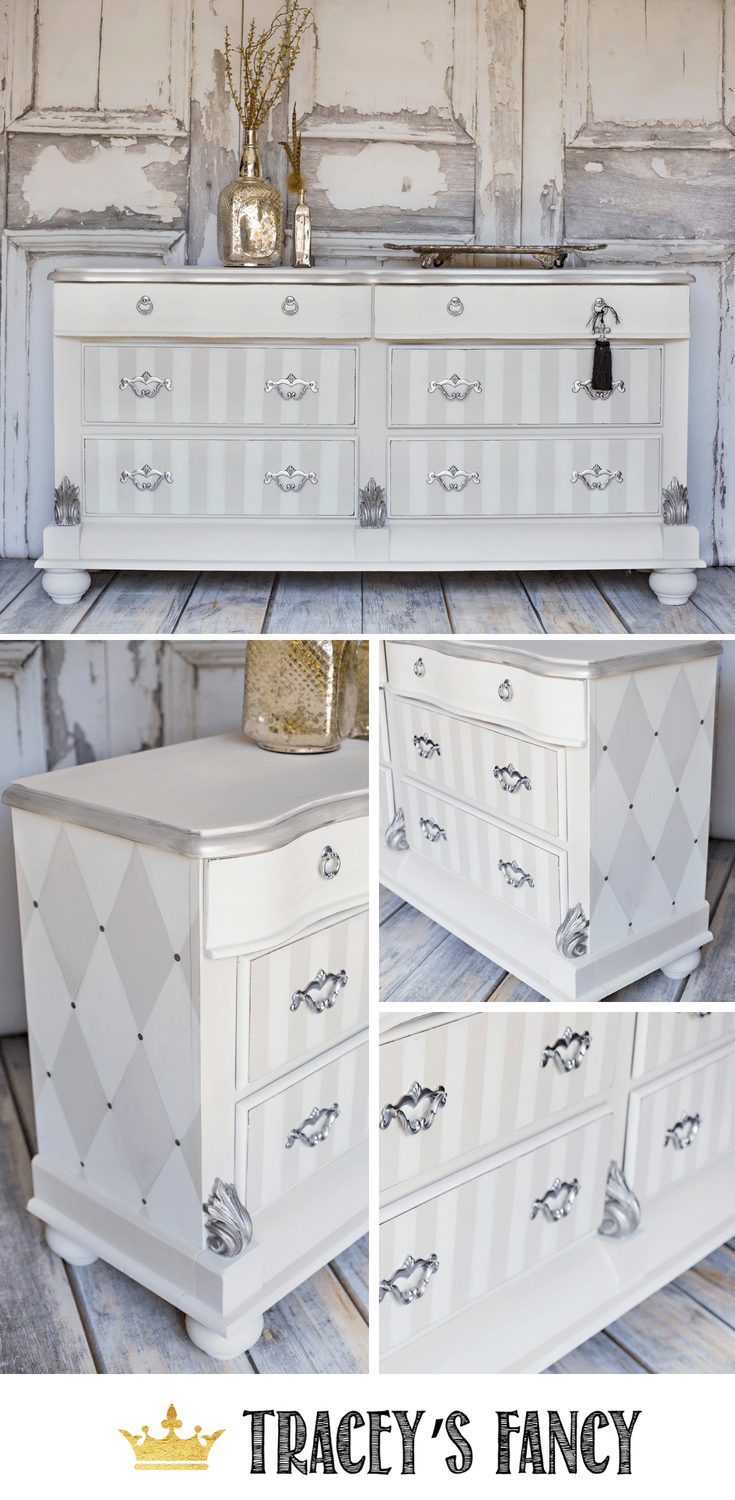 Classy & Whimsical Dresser in Painted Neutrals Funky