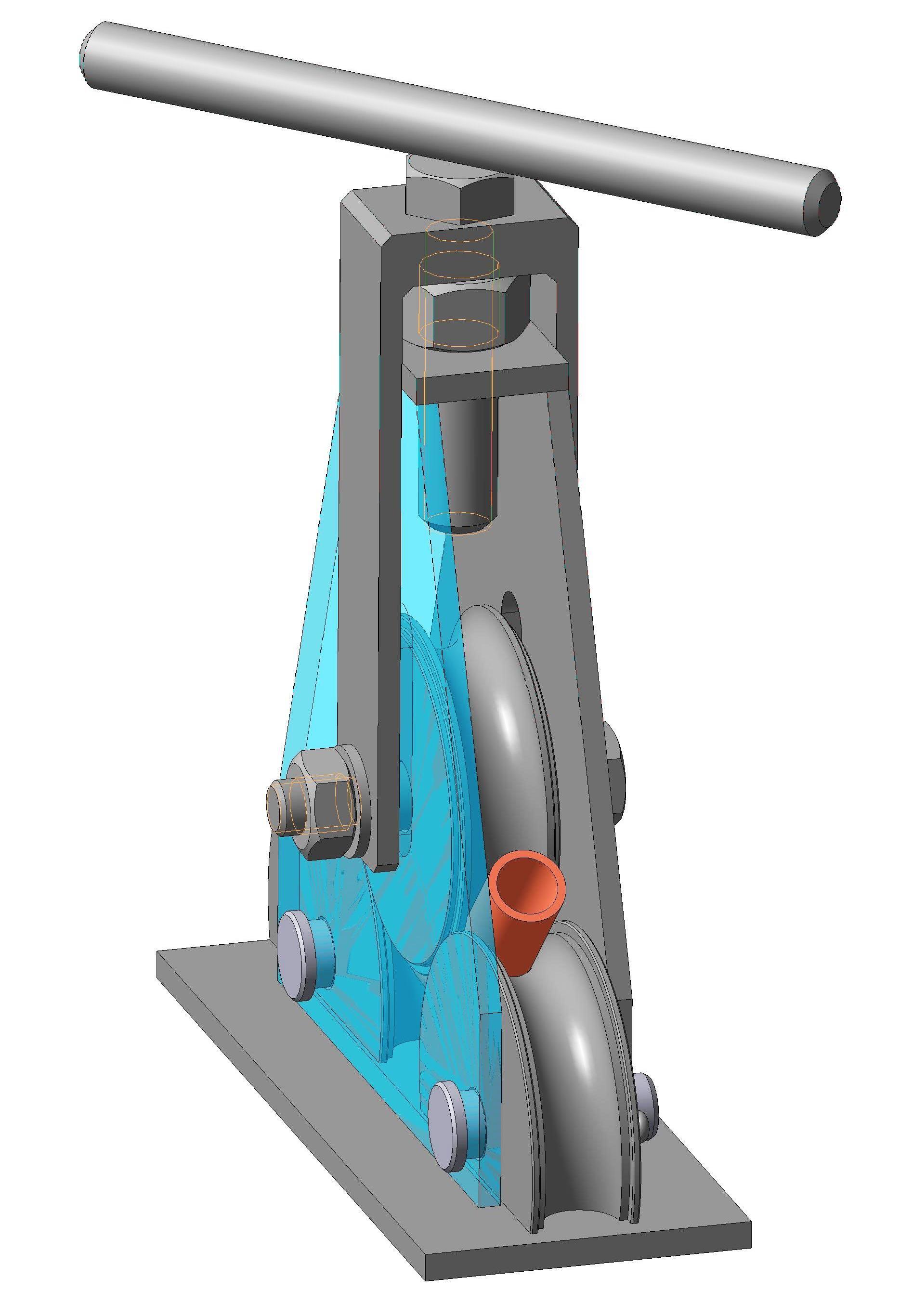 <p>Трубогиб — приспособление, позволяющее аккуратно согнуть тонкостенную трубу с определенным радиусом гиба</p>