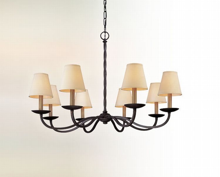 "Winner for dining room...Alexander Collection 8-Light 38"" English Iron Chandelier F2668"