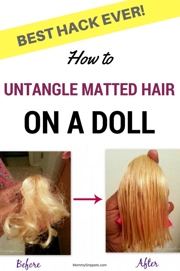 how to untangle matted hair on a doll best hack ever charly bear doll hair repair. Black Bedroom Furniture Sets. Home Design Ideas