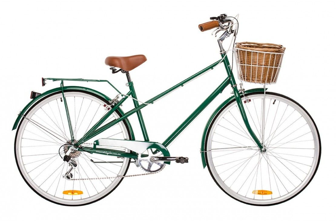 Vintage Mixte 6s Dark Green Speed Bicycle Vintage Ladies Bike