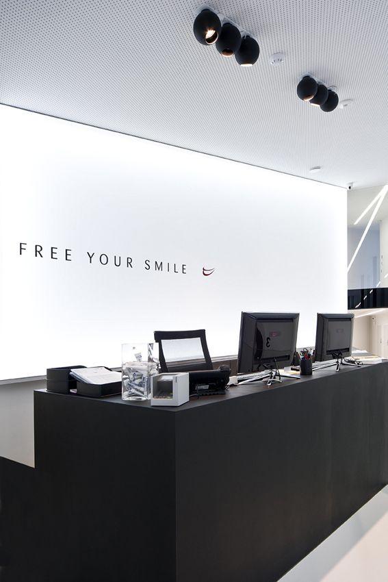 dental office front desk design. FREE YOUR SMILE \u003c\u003c\u003c 12-25(\u0027s) Black MAT#DARK DENTIST OFFICE # Concept  [WAUTERS] Project BE Dental Office Front Desk Design