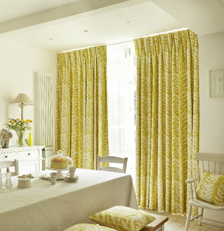 Bright Up Your Room With A Yellow Curtains Complementing Cushions Interiors