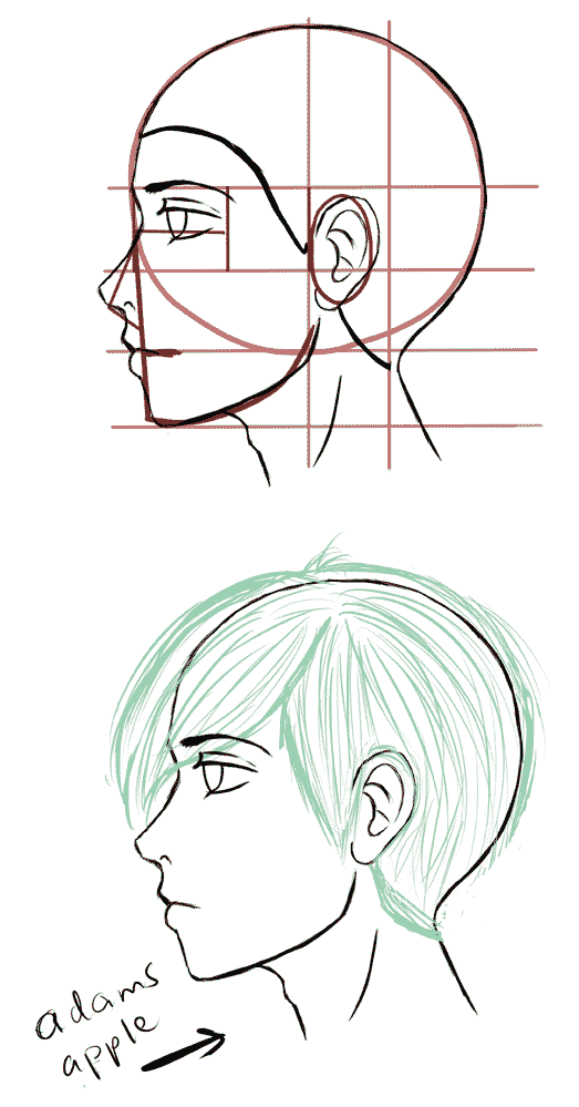 Learn To Draw Manga Drawing On Demand Side Face Drawing Drawing Tutorial Face Face Side View Drawing