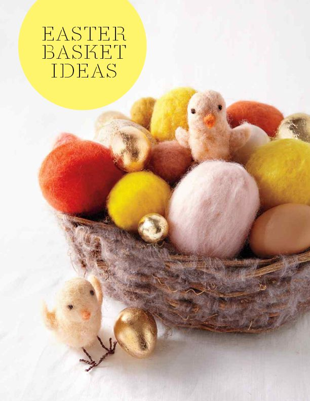 31 awesome easter basket ideas pinterest basket ideas easter easter basket ideas martha stewart living downy soft chicks and felted eggs fill this twiggy basket give it as a gift or use it as a centerpiece for negle Choice Image
