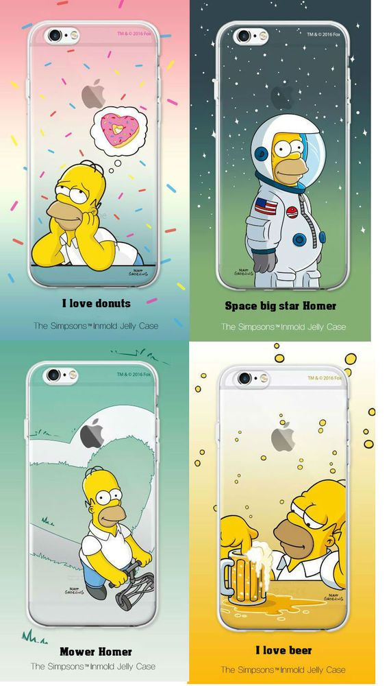 216ce6ce115 SIMPSONS iPhone 6/6S/Plus Cell Phone Clear Inmold Jelly Case Cover  Protector #SIMPSONS