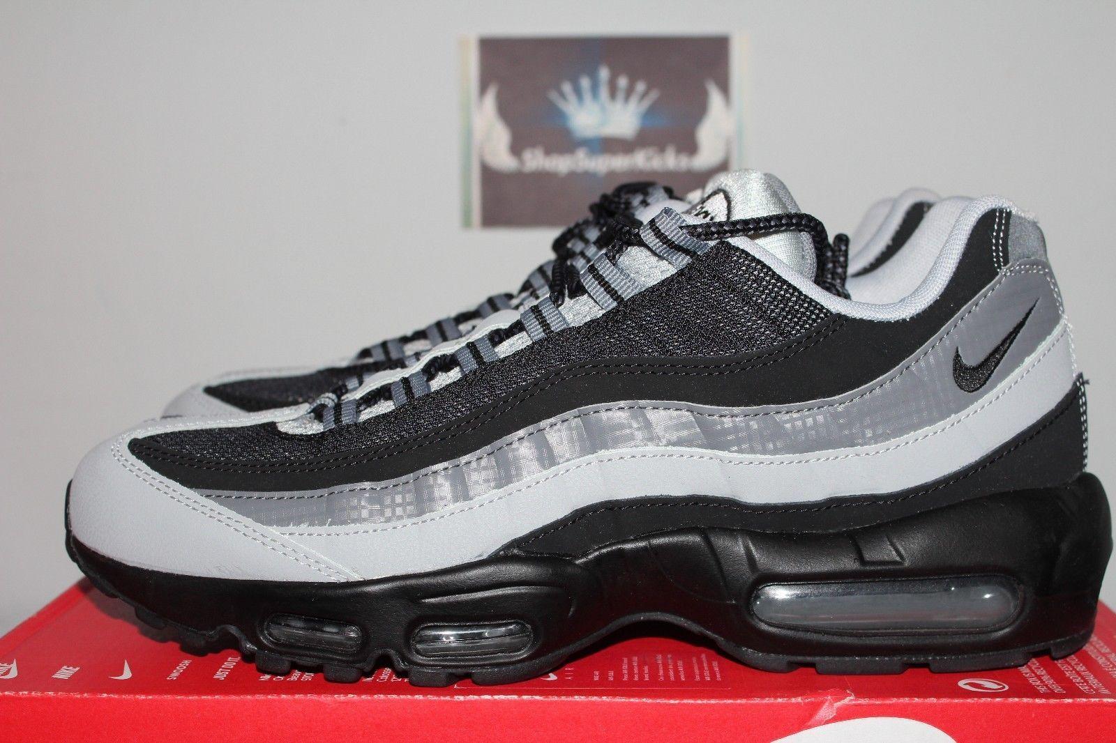 800040ad74a Nike Air Max 95 Essential Black Wolf Grey-Cool Grey 749766-005 Running