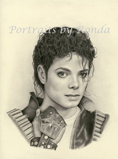 Michael Jackson by rondawest {from USA} ~ pencil portrait