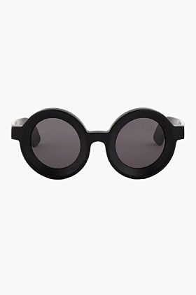 86083d9316 JULIUS Black Oversize Teashade sunglasses