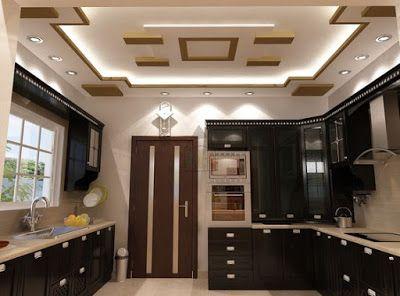 Modern pop false ceiling designs for kitchen interior with lighting design also indian ideas home rh pinterest