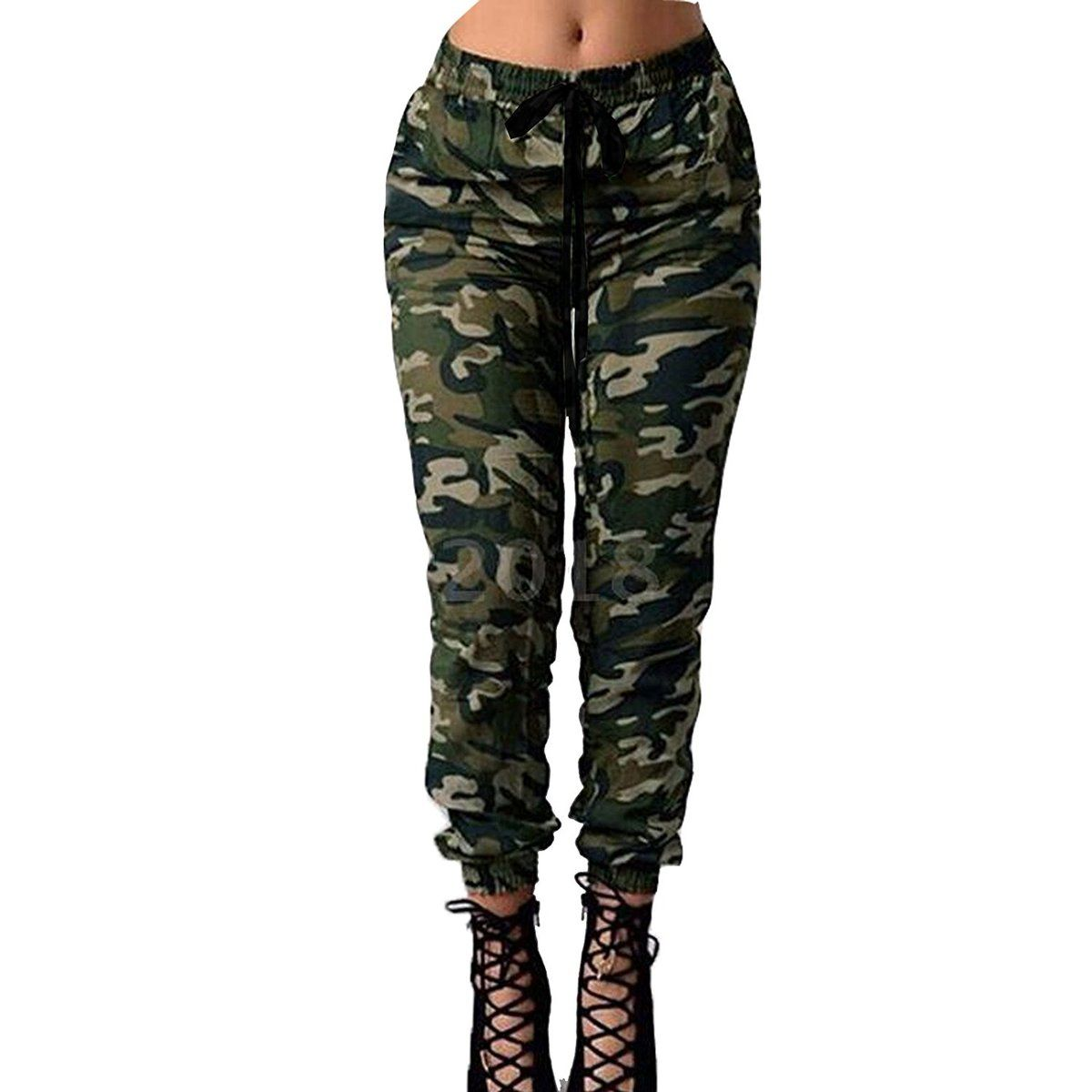 ef0cea1abf8b1 Womens Casual Military Army Camouflage Print Sports Gym Jogging Joggers Ladies  Tracksuit Bottoms Slim Fit 90