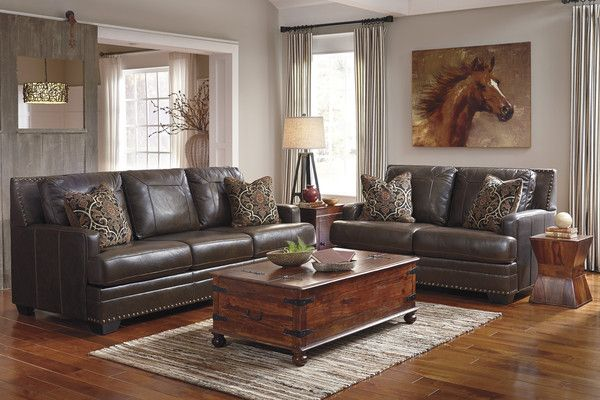 Best This Handsome Antique Red Wood Leather Loveseat Featuring 400 x 300