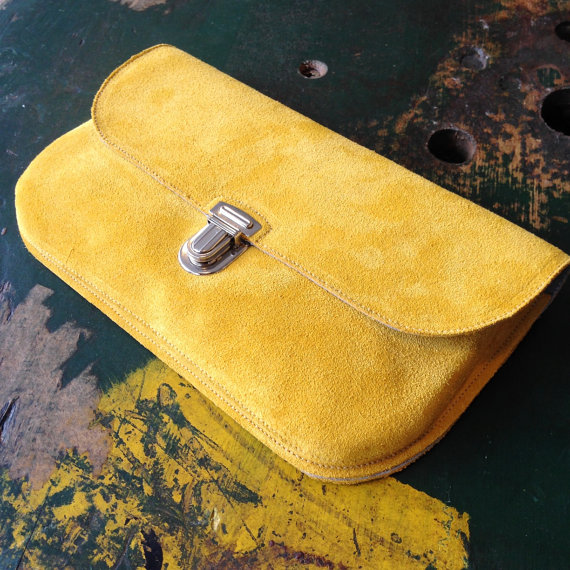 the best attitude wide varieties popular design Mustard Yellow Suede Clutch   My Style   Yellow clutch bags ...