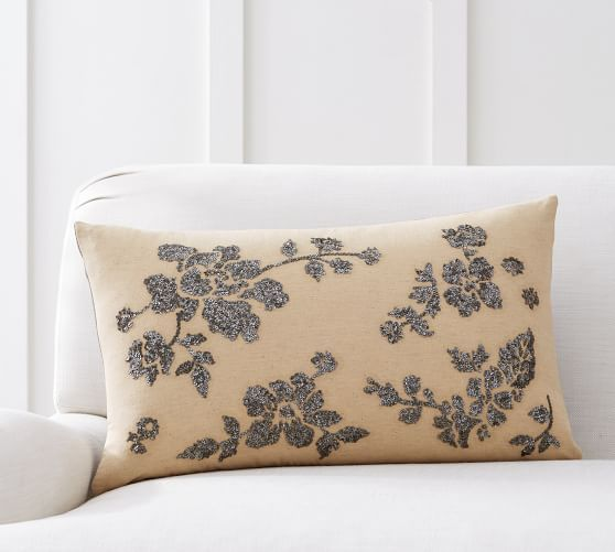 Augustine Jeweled Lumbar Pillow Cover Foxwood Cove Pinterest Inspiration Jeweled Decorative Pillows